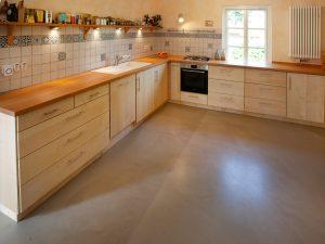 Küche Ahorn Buche farblos geölt